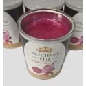POT DE CIRE Macaron Fruits rouges  PRECIEUSE EPIL AVEC BANDE  800g Sans colophane